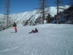 Josepha fait des pirouettes sur la neige