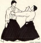 mae ryokatadori, men ushi (de la part de tori)